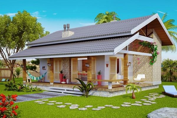 39 fachadas de casas de campo for Modelos de casas de campo de una planta