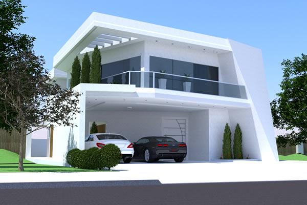 46 fachadas de sobrados modernos for Casa moderna 2 andares 3 quartos