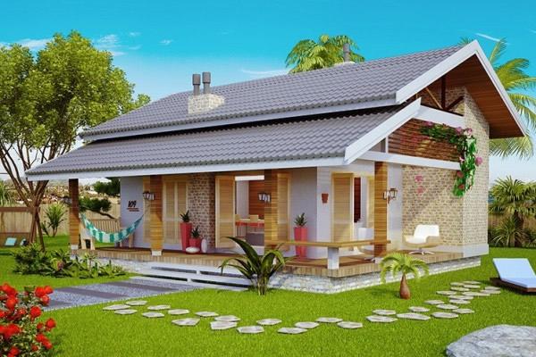 Fachadas ou frente de casas 30 modelos para lhe inspirar for Modelos jardines para casas pequenas
