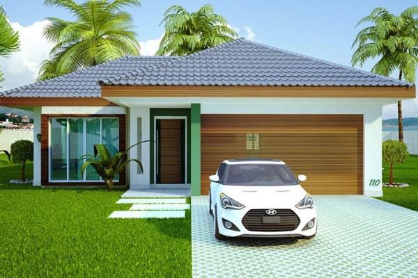 Fachadas ou frente de casas 30 modelos para lhe inspirar for Casa moderna 90m2