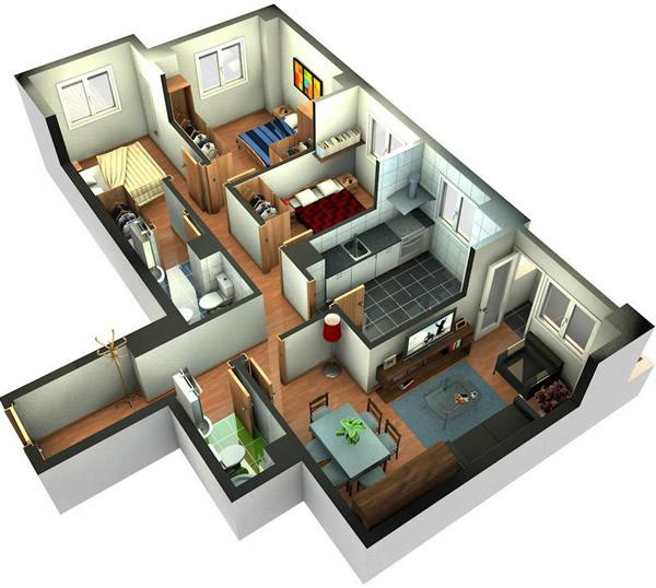 Plantas de casas prontas em 3d 30 modelos Planos interiores de casas modernas