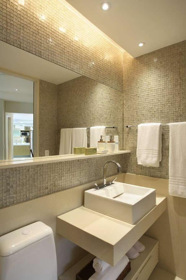 Sancas de Gesso Modelos, Tipos, Como colocar -> Banheiro Pequeno E Clean