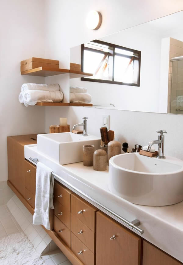 27 modelos de armários de banheiro planejado -> Armario De Apoio Para Banheiro