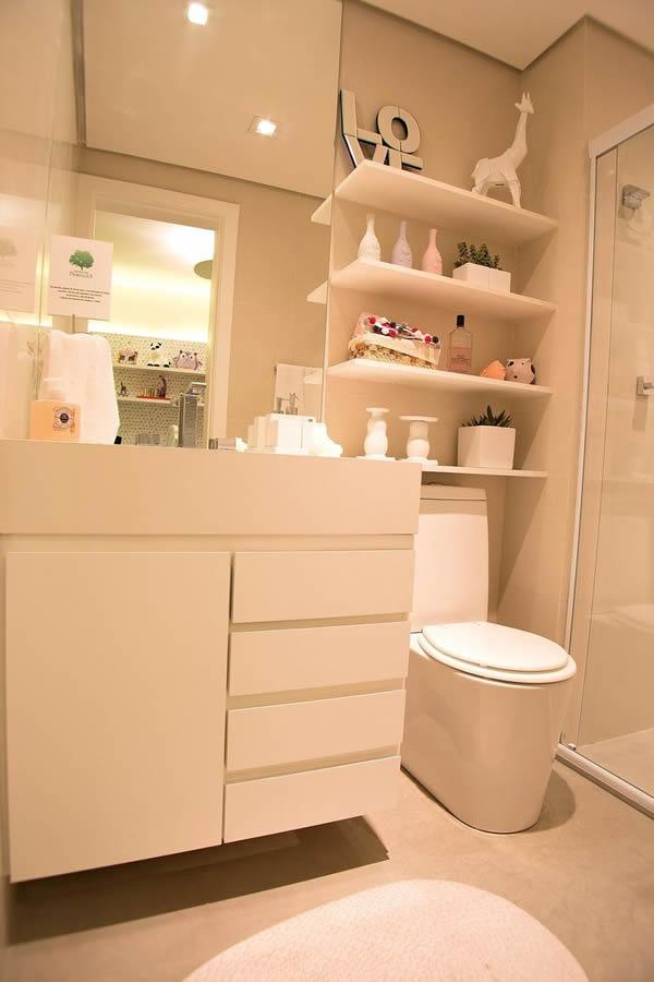 27 modelos de armários de banheiro planejado -> Armario De Banheiro Planejado Com Cesto De Roupa
