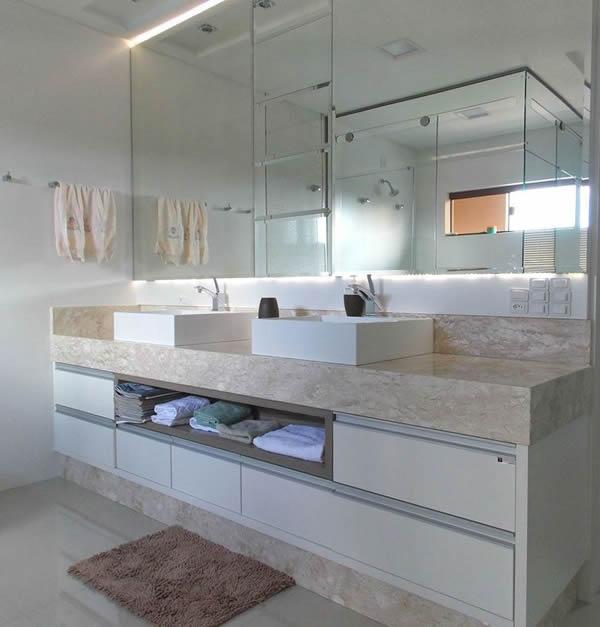 27 modelos de armários de banheiro planejado -> Armario Banheiro Mofo