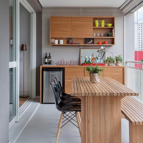 Decoraç u00e3o de Varandas 30 modelos e d -> Decoração Para Varanda De Apartamento Simples