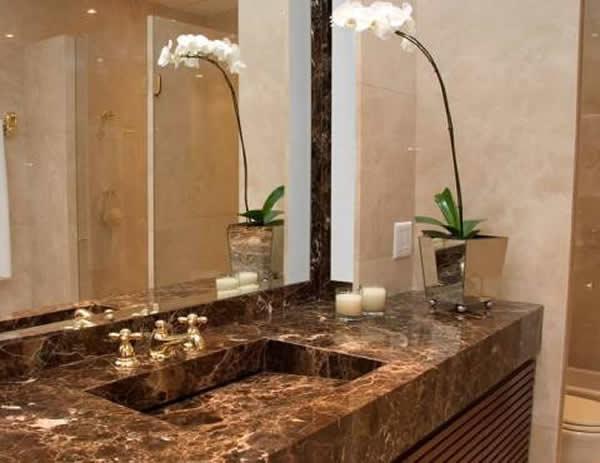 10 tipos de granito para banheiro # Banheiro Decorado Granito