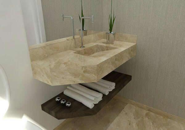 10 tipos de granito para banheiro -> Cuba Pia Banheiro Granito