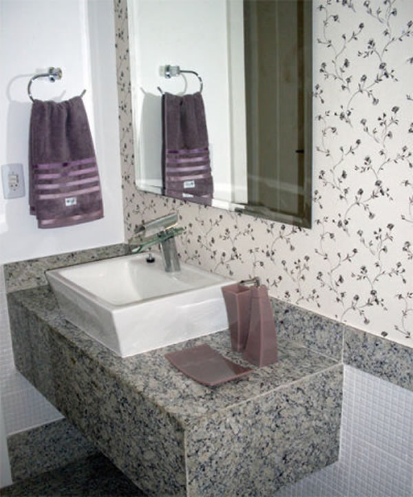 10 tipos de granito para banheiro -> Banheiro Decorado Granito