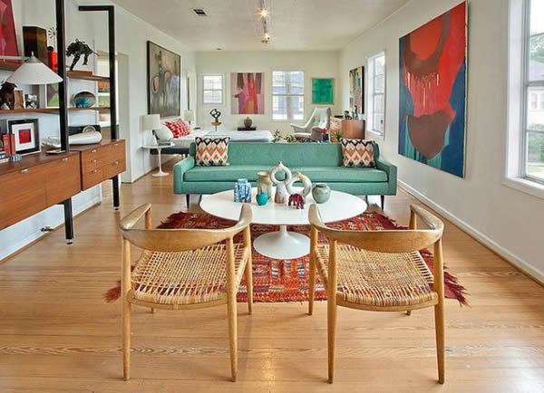 16 ambientes decorados com m veis coloridos - How long to paint a 3 bedroom house ...