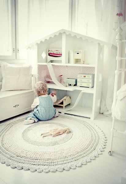 Tapete deBarbante para quarto de criança