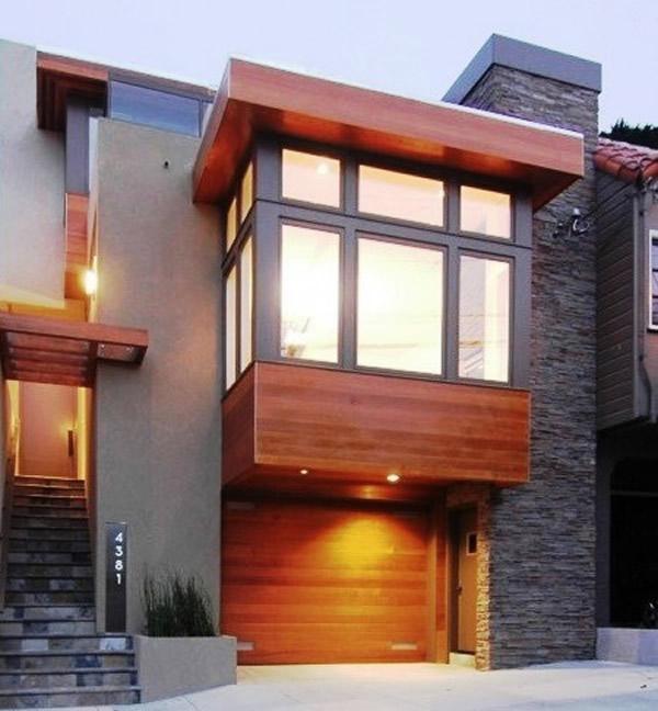 50 modelos de porcelanatos para fachada for Fachadas modernas para casas 2016
