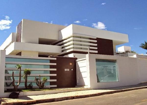 50 modelos de porcelanatos para fachada - Tipos de tejados para casas ...