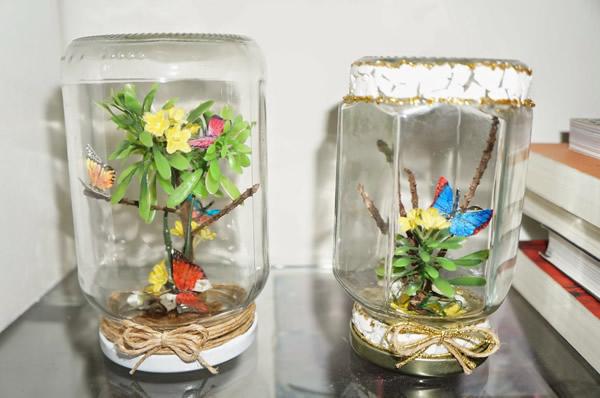 Aparador Feito De Paletes ~ Como Fazer Artesanato em Vidro de Conserva