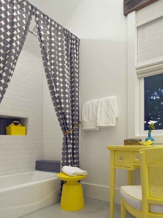 banheiros com cortinas
