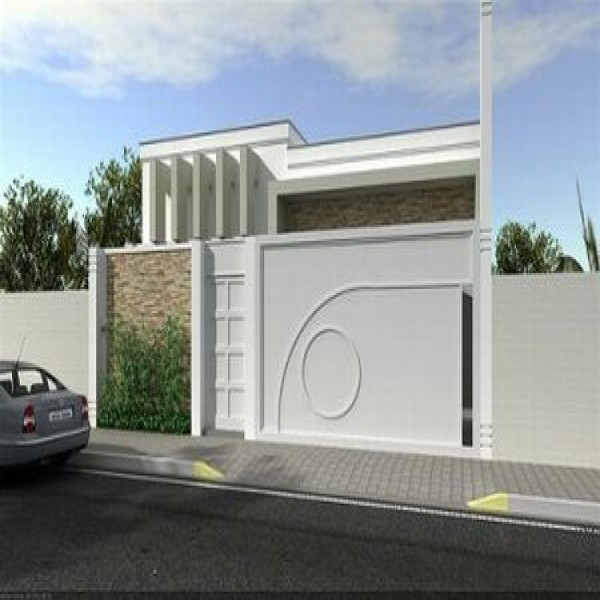 Fachadas de muros modernos de 50 modelos for Modelos de fachadas