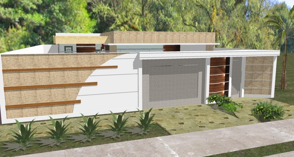 Fachadas de muros modernos de 50 fotos de modelos de for Que planta para muro exterior vegetal