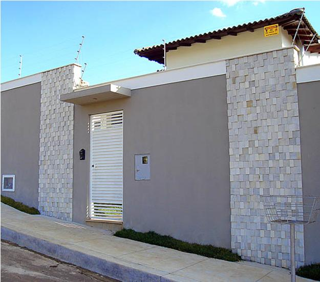 Fachadas de muros modernos de 50 modelos - Tipos de muros ...