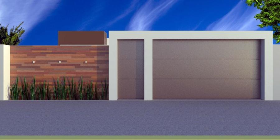 Fachadas de muros modernos de 50 modelos for Modelos fachadas para frente casa