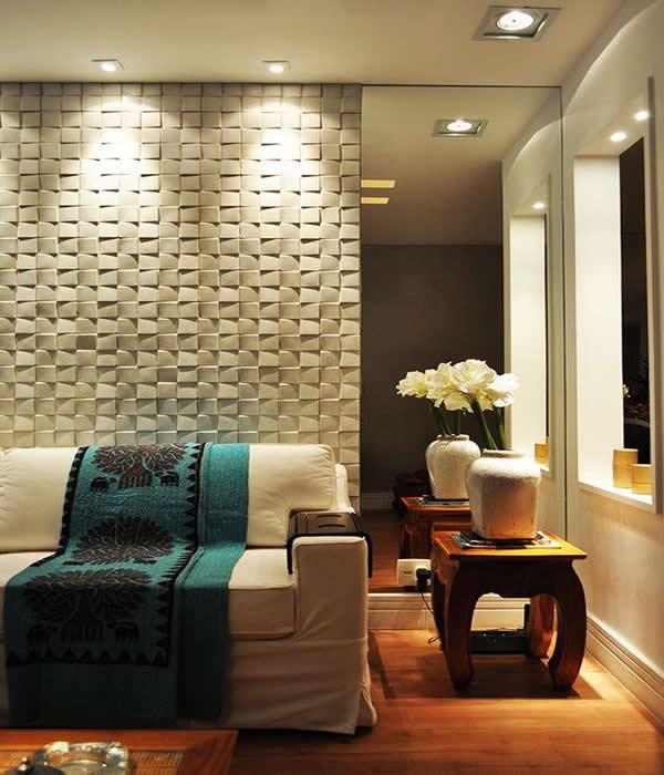 Placa de gesso 3d como usar 10 ambientes decorados for Placas decoradas para pared