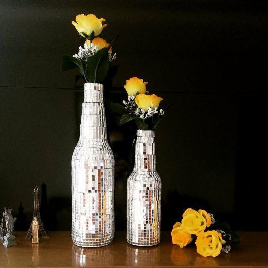 garrafa decorada com brilho