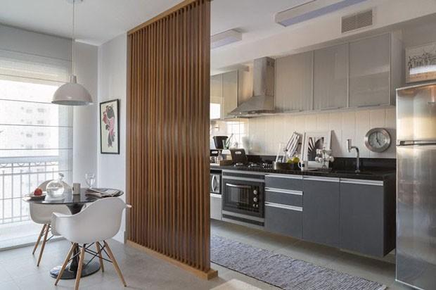 cozinha planejada integrada com a sala