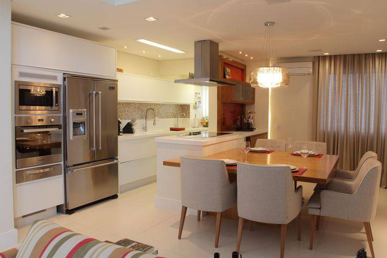 cozinha aberta estilo americana